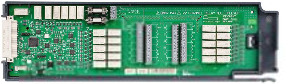 KEYSIGHT DAQM901A  适用于 DAQ970A 的 20 通道多路复用器(2/4 线)模块