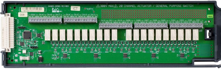 KEYSIGHT DAQM903A 适用于 DAQ970A 的 20 通道执行器/通用开关模块