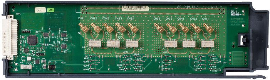 KEYSIGHT DAQM905A 用于 DAQ970A 的 2 GHz 双路 1:4 射频多路复用器 50 Ω 模块