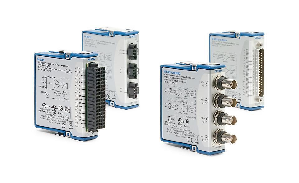 NI 9200 C系列电压输入模块-CDAQ模块