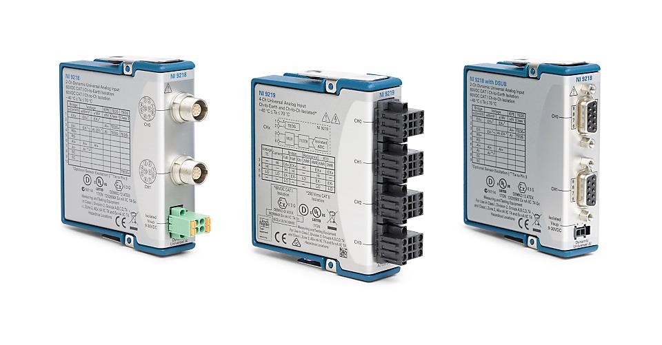 NI 9218/9219 C系列通用模拟输入模块-CDAQ模块