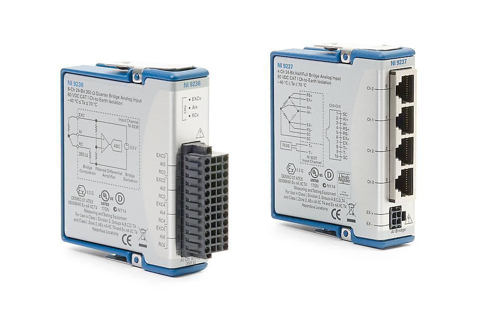 NI 9235/9236/9237 C系列应变/桥输入模块-CDAQ模块