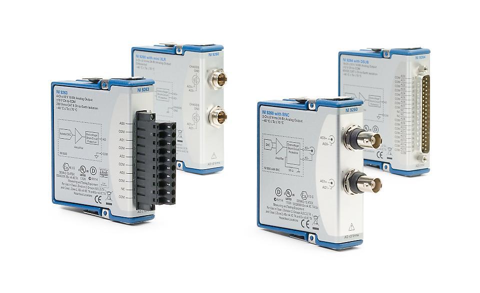 NI 9260 C系列电压输出模块-CDAQ模块