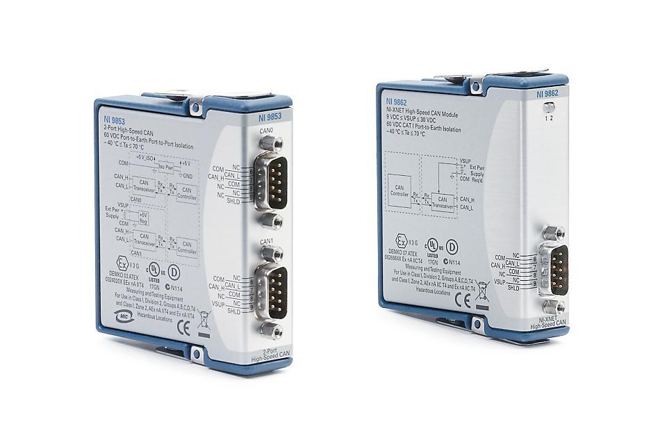 NI 9850/9860 C系列CAN接口模块-CDAQ模块