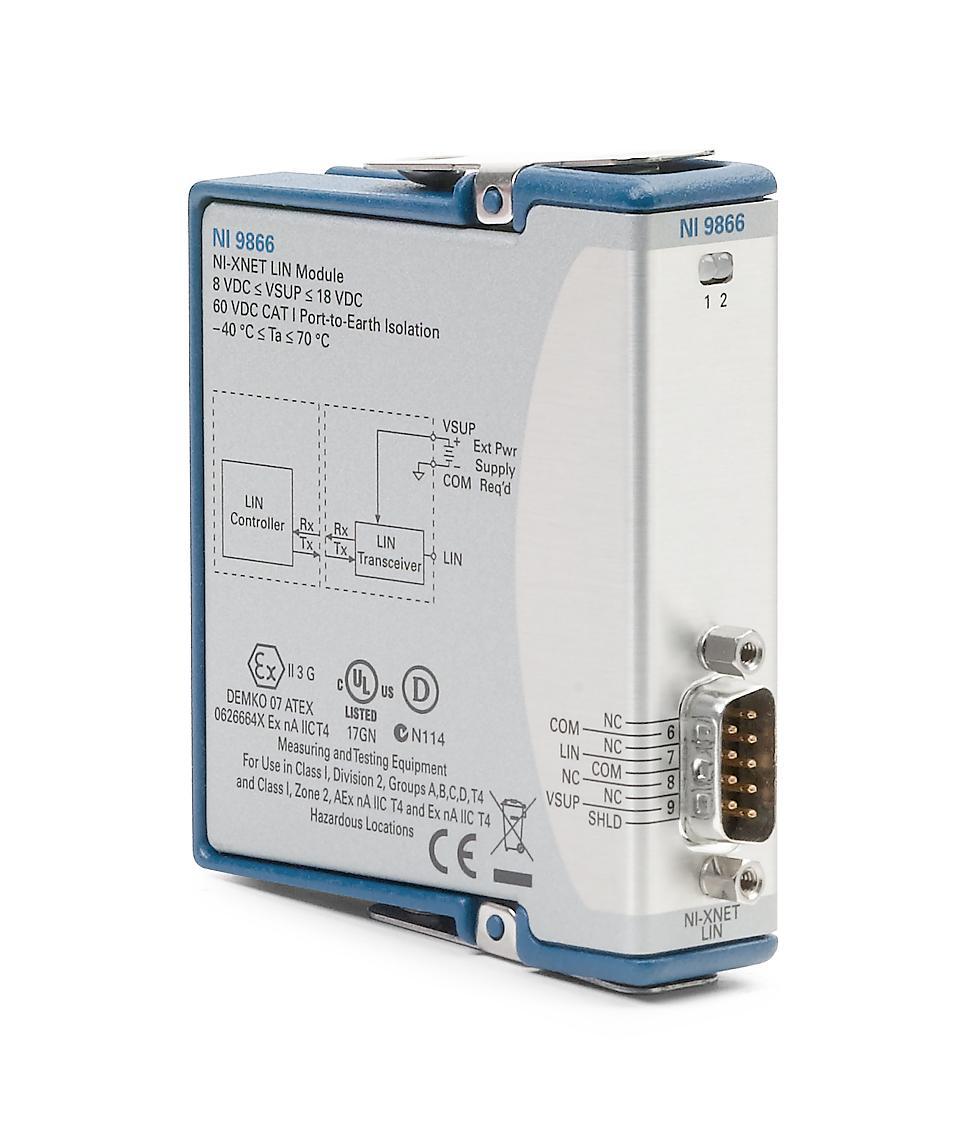 NI 9866 C系列LIN接口模块-CRIO模块