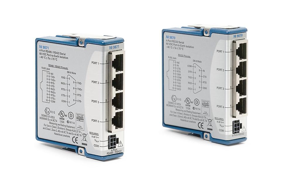 NI 9870/9871 C系列串行仪器控制模块