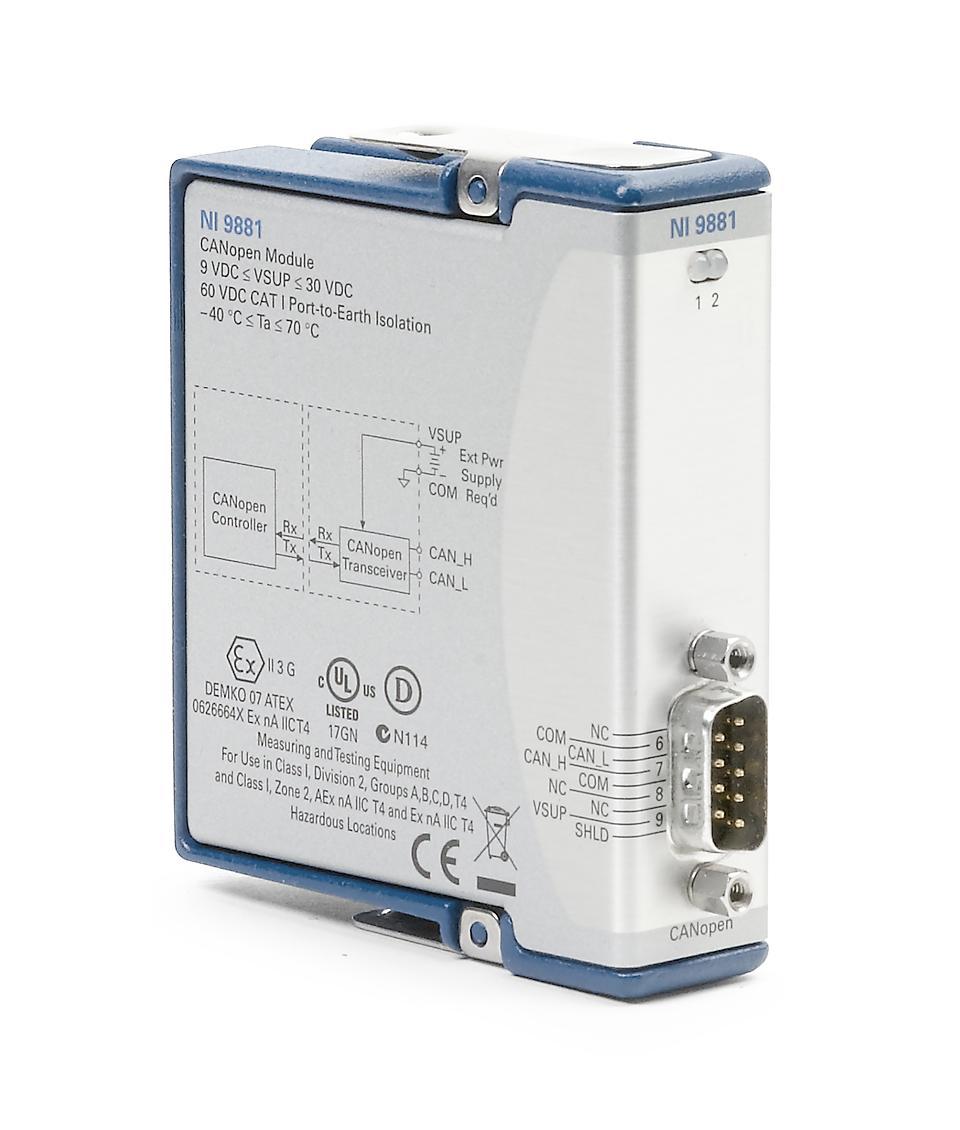 NI 9881 C系列CANopen接口模块