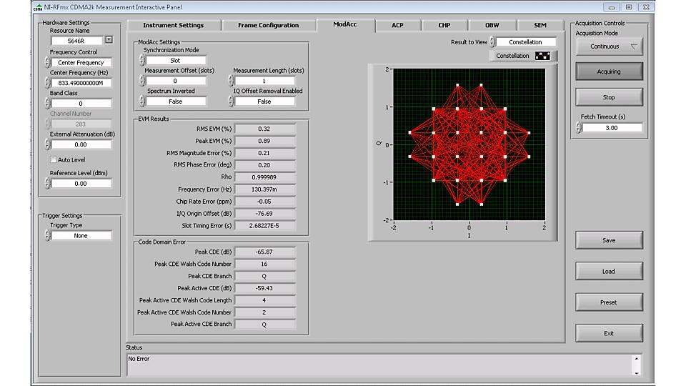 NI RFmx CDMA2000 无线设计和测试应用软件
