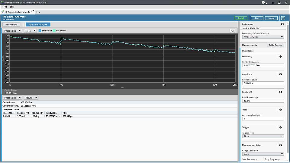 NI RFmx Phase Noise 无线设计和测试应用软件