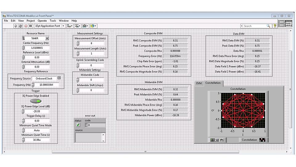 NI RFmx TD-SCDMA 无线设计和测试应用软件