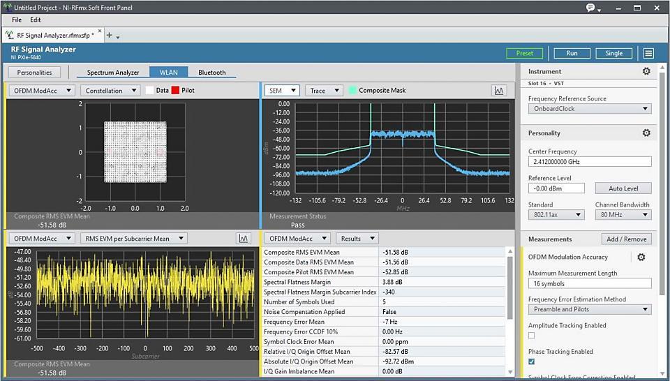 NI RFmx WLAN 无线设计和测试应用软件