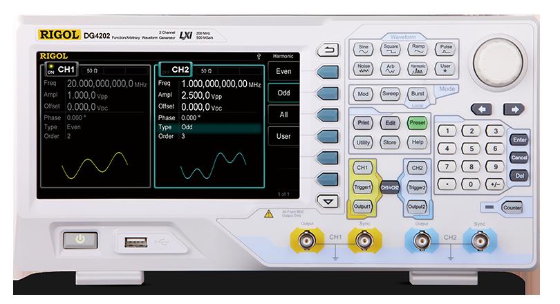 RIGOL DG4000系列 函数/任意波形发生器